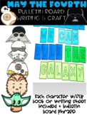 May the Fourth Star Wars Bulletin Board Craft and Writing