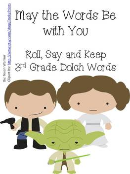 May the Words be with You 3rd Grade Dolch Words Practice