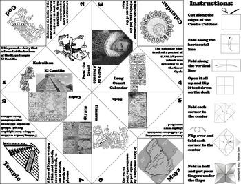 Civilizations of Mesoamerica Activity: Mayan Empire Foldable