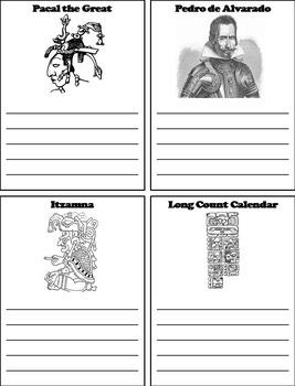 Civilizations of Mesoamerica Project: Mayan Empire Activity/ Foldable