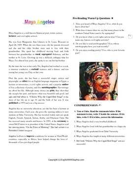 Maya Angelou - SERIES INSPIRING PEOPLE