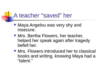Maya Angelou: A Phenomenal Woman