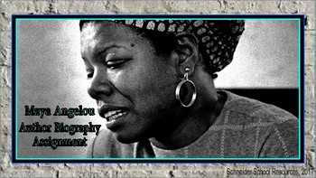 Maya Angelou: Author Biography Assignment