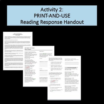 """Maya Angelou Author Study, """"Lay My Burden Down"""" Reading and Response"""