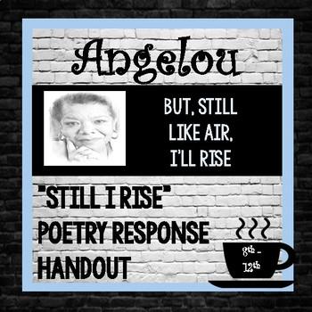 "Maya Angelou Author Study, ""Still I Rise"" analysis"