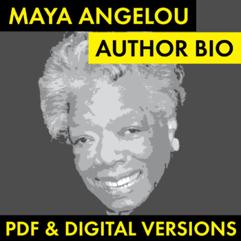 Maya Angelou Author Study Worksheet, Easy Biography Activi