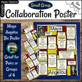 Maya Angelou Poetry Collaboration Group or Individual Poster