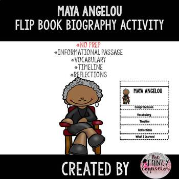 Maya Angelou Black History Month Flipbook Craftivity Biography Activity
