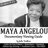 Maya Angelou Documentary Still I Rise Viewing Guide & Quotation Activity