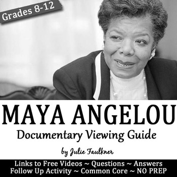 Maya Angelou Documentary Still I Rise Viewing Guide & Quot
