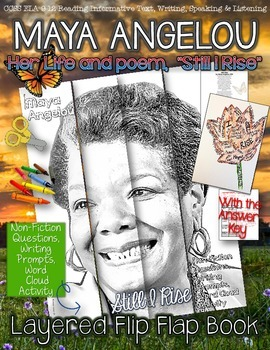 "MAYA ANGELOU BIOGRAPHY AND POEM, ""STILL I RISE,"" FLIP BOOK"