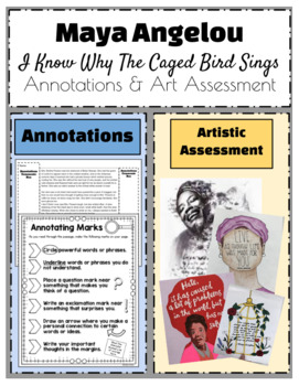 "Maya Angelou ""I Know Why The Caged Bird Sings"" Annotations & Art Assessment"