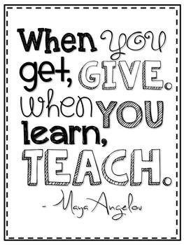 Maya Angelou Inspirational Quote FREEBIE