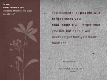 "Maya Angelou Lesson - ""Still I Rise"""