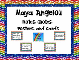 Maya Angelou: Notes, Quotes, Posters, and Cards