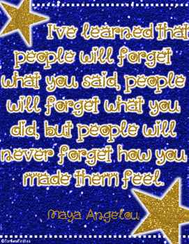 Maya Angelou Quote  *FREEBIE*