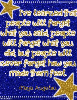 Maya Angelou Quote  *Free!*