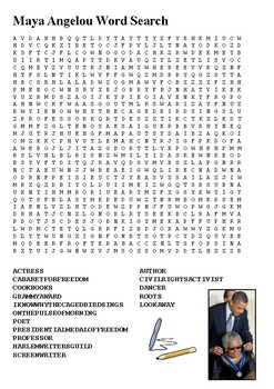 Maya Angelou Word Search