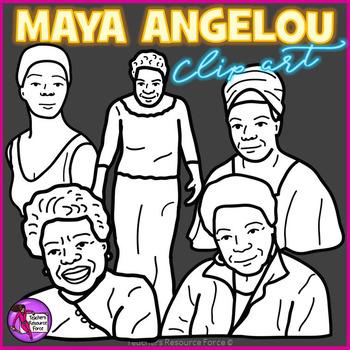 Maya Angelou clip art