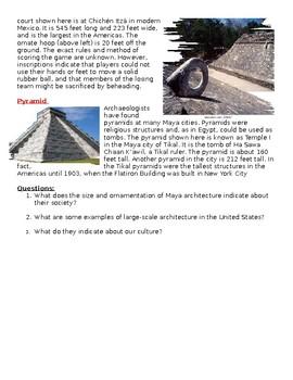 Maya Architecture Worksheet