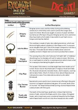 Maya Artifact-Based Question
