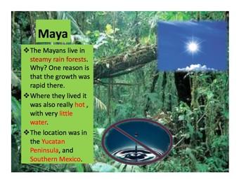 Maya, Aztec, & Inca Note Chart and Venn Diagram (with Visual Answer Key!)