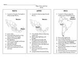 Maya, Aztec, Inca Notes