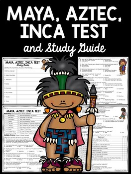 Maya Aztec Inca Test Mesoamerica 50 questions with study guide