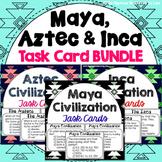 Maya, Aztec and Inca Task Card Bundle