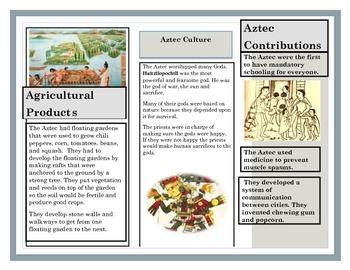 Maya, Aztec and Inca Indians Unit