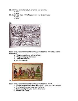 Maya, Aztec, and Inca Test
