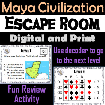 Maya Civilization: Escape Room - Social Studies