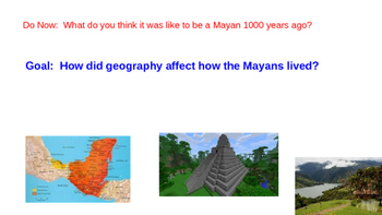 Maya Do Now or Warm Up Questions