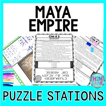 Maya Empire PUZZLE STATIONS: Mayan Civilization, Mexico and Hieroglyphics
