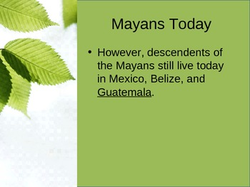 Maya Empire PowerPoint