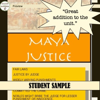 Mayan Civilization Government and Laws Student-Created Gallery Walk UPDATED