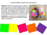 Maya, Inca, Aztec Color-card Assessment