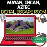 Maya, Inca, Aztec Digital Escape Room, Breakout Room Test Prep Distance Learning