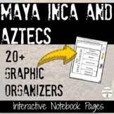 Maya Inca Aztecs Interactive Notebook Graphic organizers