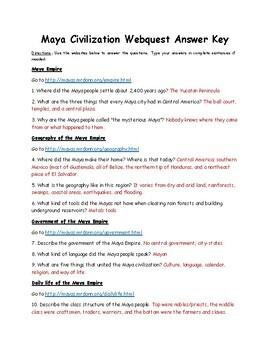 Maya, Inca, and Aztec Civilizations Webquest Bundle