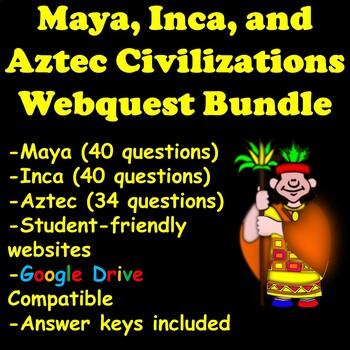 Maya, Inca, and Aztec Webquest Bundle
