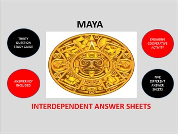 Maya: Interdependent Answer Sheets Activity