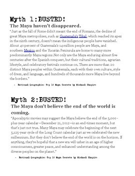 Maya Mythbusters: National Geographic's 10 Common Myths about the Maya