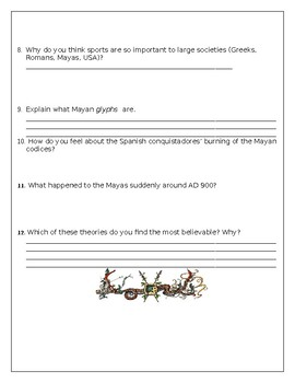 Maya Powerpoint Worksheet