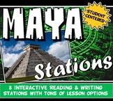 Maya Stations Activity with Graphic Organizer & Foldable Mayan Option