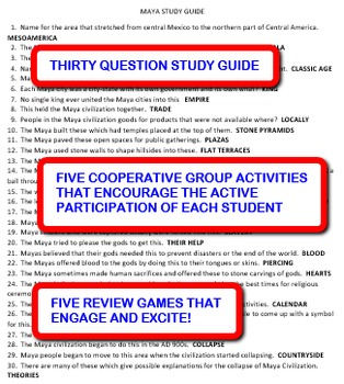 Maya: Study Guide and Activity Pack