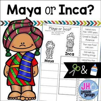 Maya or Inca? Cut and Paste Sorting Activity