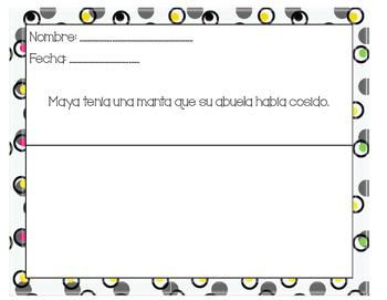 Maya's Blanket Descriptive Sentences