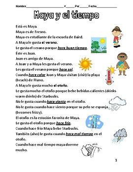 Maya y el tiempo (Maya and the weather) SPANISH Español