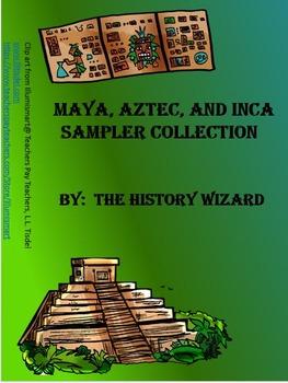 Mayan, Aztec, Inca Sampler Collection (3 Webquests)